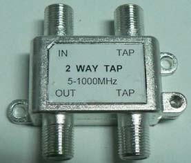 5-1000MHz tweerichtingsTap Indoor Tap Splitter