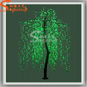 LED de planta artificial fascinante luz de Natal Árvore de salgueiro
