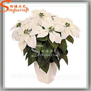 Bela decoração de flores de Natal de Seda Artificial