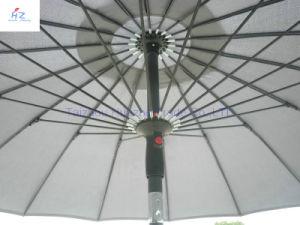 9ft 18nervures parapluie en fibre de verre main pousser parapluie Parapluie de plein air Parasol Parasol