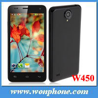 2013 fabricados na China W450 1GB de RAM Mtk6582 quad core Celular Android