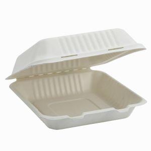 9'' la caña de azúcar Box Lunch vajillas envases de alimentos