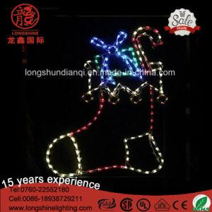 STERN-Seil-Weihnachtslicht des LED-im Freien Cer-IP65 buntes Nordfür im Freienbeleuchtung-Dekoration