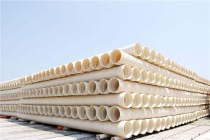 800mm Blanc en carton ondulé en plastique à double paroi du tube en PVC