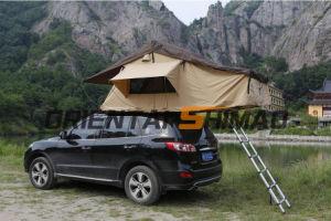 Do lado exterior de porta-bagagens de tejadilho SUV tenda de debulhar Carro de tejadilho
