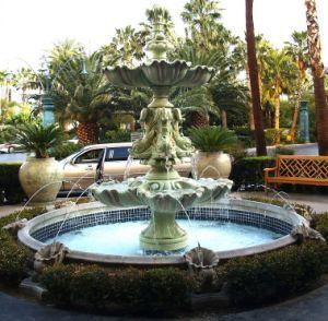 Outdoor decoração escultura em mármore verde jardim de pedra fonte de água