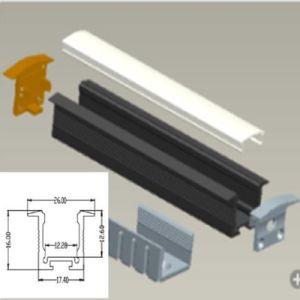 Profilo di alluminio messo LED del diffusore P/N4153 per l'indicatore luminoso della barra