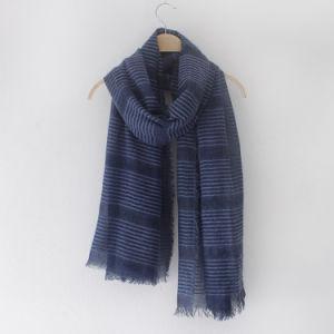 Fashion Striped Plain Color女性ビスコース絹のスカーフ(YKY1152)