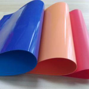 Lona de PVC ignífugo, PVC tejido revestido de cuchilla de lona