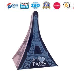 Eiffel는 펜 연필 크레용 문구용품 금속 양철 깡통 상자 Jy-Wd-2015122502를 형성했다