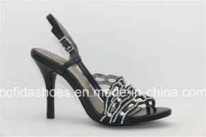 De façon élégante High Heels Lady sandales de cuir