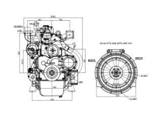 4 de Dieselmotor van cilinders