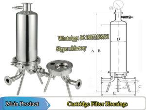 Aço inoxidável (vinho) do alojamento do filtro do alojamento do filtro de cartucho