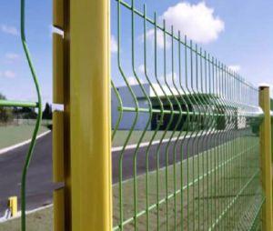 PVCによって塗られる溶接された金網の庭の塀のパネル