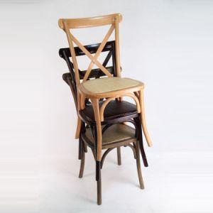 0abae46e955 El mejor precio China banquete cruz de madera X asientos sillas de ratán
