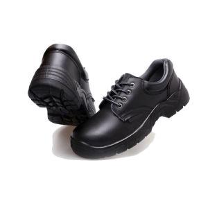 En el tobillo bajo la placa de acero formales Zapatos de seguridad EN345