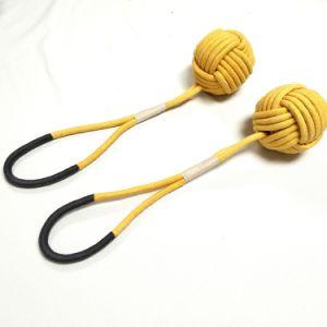 Giocattoli di lavoro a maglia del Catnip della corda del cotone della sfera per il cane del gatto
