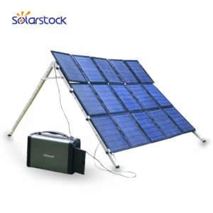 Backup de emergência portátil Gerador Solar Power off Grid 400W