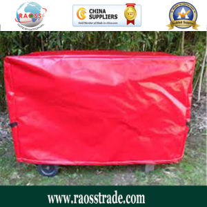 Material PE roja cubierta Jardín Barbacoa