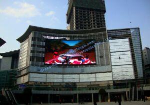 Advertisemen das im Freien vordere gekurvte serveice P6 Bildschirmanzeige LED-IP65