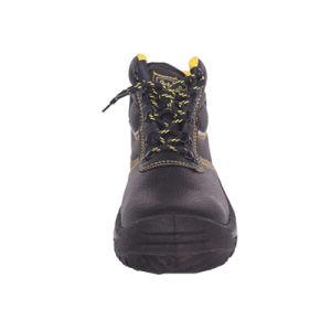 El peso de la luz de mediados de tobillo de cuero Zapatos de Seguridad Industrial