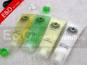 Conjunto de las instalaciones del hotel Hotel los tubos de plástico de champú cosmético