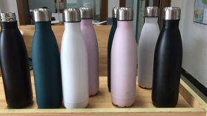bottiglia di campeggio di riciclaggio dell'acciaio inossidabile dell'isolamento termico di sport della bicicletta della bottiglia di acqua esterna 350ml & 500ml per stile della cola dell'acqua