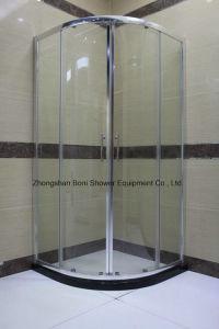 Certificação de 6mm de alumínio cromado Quadrante de vidro temperado Gabinete chuveiro porta corrediça