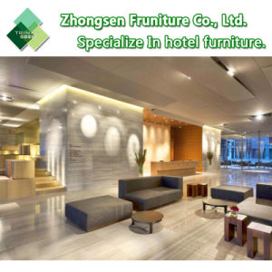Mobilia laminata moderna dell'insieme di camera da letto del re Size Bed del MDF del LED per la camera di albergo cinque stelle della plaza di Crowne