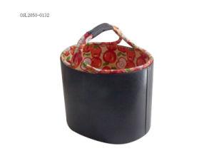 Couro Estilo Village Garden Home Hotel Vestuário Cesta sacola de armazenamento de alimentos
