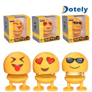 Cabeça de agitação da mola expressão sorridente Doll Brinquedos Decoração Automóvel Criativo