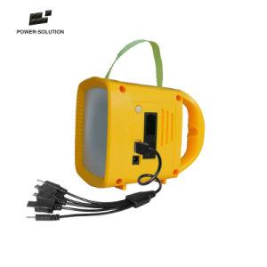 La energía solar recargable Linterna de camping Teléfono móvil de radio con cargador solar