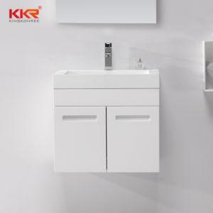 Salle de bains moderne de la résine évier en pierre Cabinet lavabo avec CUPC