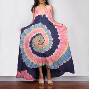 Desejo amazônica Linga Backless novo vestido de esferas de forma longa V vestido de pescoço