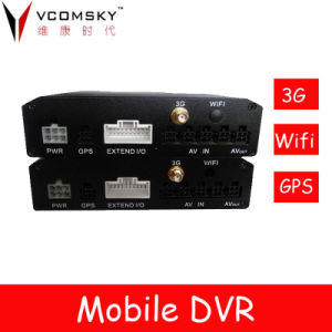 4CH Mobile Car DVR with 3G, GPS, Wi-Fi Modules for Optional