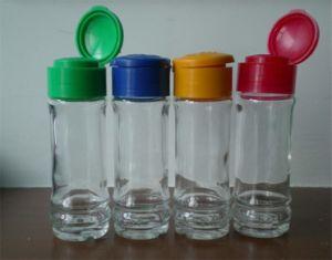 ガラススパイスのびんのスパイスの瓶のガラススパイスの瓶