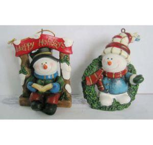 OEM de Nieuwe Ambacht van Kerstmis van Polyresin van de Sneeuwman