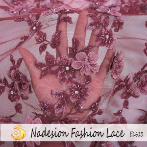 Высокая производительность 3D Handwork кружевной ткани кружевной вышивкой Handwork высокого класса