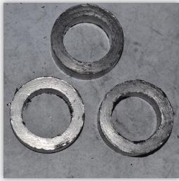 Junta da espiral de grafite flexível