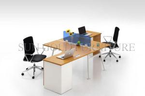 Atractivo diseño de mobiliario de oficina para 2 Estación de trabajo desmontables partición (SZ-WST742)