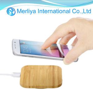 Caricatore senza fili di bambù del telefono del caricatore del quadrato di legno senza fili universale del grano