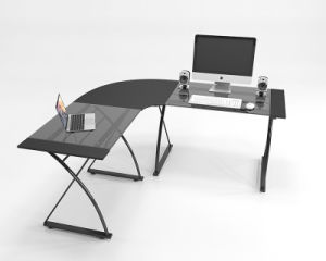 Maison moderne en verre de mobilier de bureau coin ordinateur de