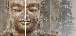 Golden Buddha pintura a óleo para decoração