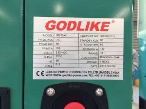 100Ква (80квт) звукоизолирующие Cummins дизельный генератор (GDC100*S)