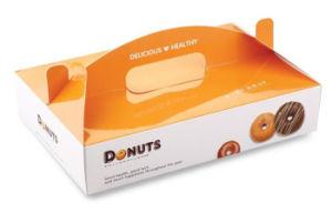 Impresa personalizada cartón Bagel Bakery Caja de Alimentos