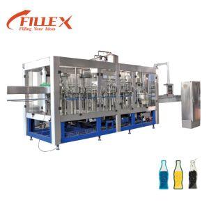 5000-18000bph frasco de vidro plástico totalmente automático de suco de laranja água Vinho Cerveja Máquina de processamento de embalagem de Enchimento