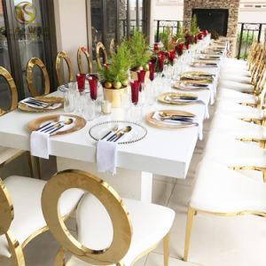Het Dineren van het Frame van het Roestvrij staal van de Partij van het Huwelijk van het Banket van de gebeurtenis Stoel