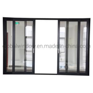 Liga de alumínio entrada de vidro temperado Porta Corrediça para Villa/casa/apartamento/Prédio
