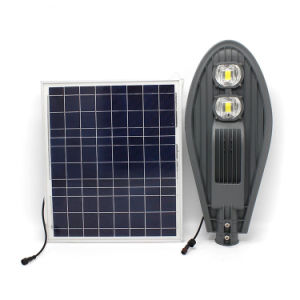 Haute luminosité solaire Rue lumière LED avec batterie au lithium Panneau solaire