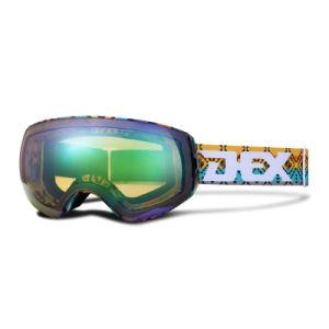 Оптовая торговля двойной объектив для взрослых Anti-Fog горнолыжные очки сноуборде защитные очки для автомобиля